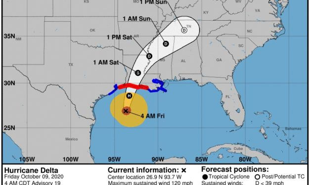 Hurricane Delta closes 92 pct of Gulf of Mexico oil output – largest in 15 years
